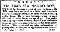 1792-11-14 To be sold time of a negro boy.jpg