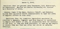 Minutes of the Common Council for March 5, 1824