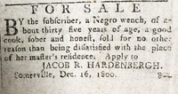 FOR SALE By the subscriber, a Negro wench