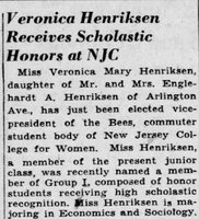 1943-05-19 Veronica Henriksen Receives Scholastic Honors at NJC - Plainfield Courier-News.jpg