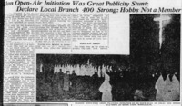 Klan Open-Air Initiation Was Great Publicity Stunt part 1.png