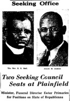 1935 Two Seeking Council Seats at Plainfield - Minister, Funeral Director Enter Primaries for Positions on Slate of Republicans Seeking Office (New York Amsterdam News)-headline.png