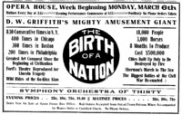 Birth of a Nation Ad - New Brunswick Times 1916-03-04 p. 2.png