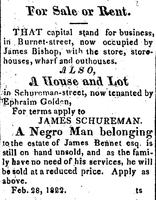 1822-02-28 For Sale or Rent. James Schureman.jpg