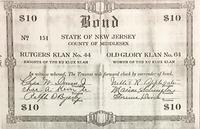 Rutgers Klan $10 Bond